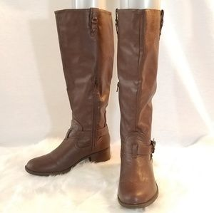 Rampage Chocolate Vegan Tall Riding Boots